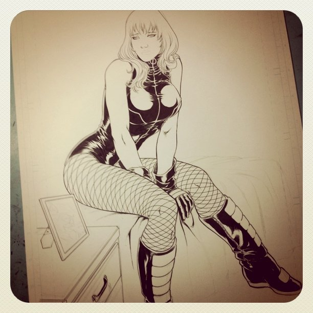 Almost done #BlackCanary #DC #Comics