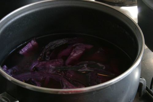 Red cabbage dye