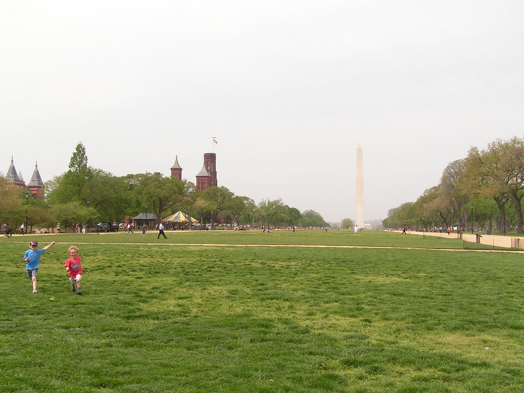 Playing on the National Mall