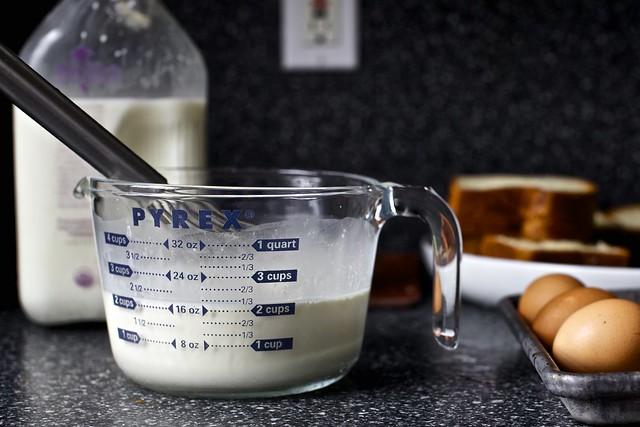 milk, cream, eggs
