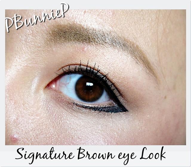 Signature Brown eye Look--Close
