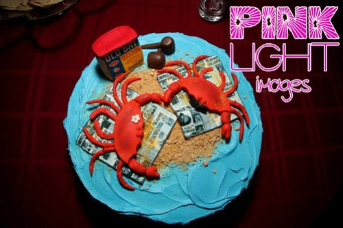 Engagement Party Cake - Crabs & Old Bay