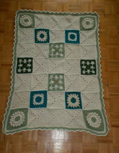 Sampler Baby Blanket - Complete