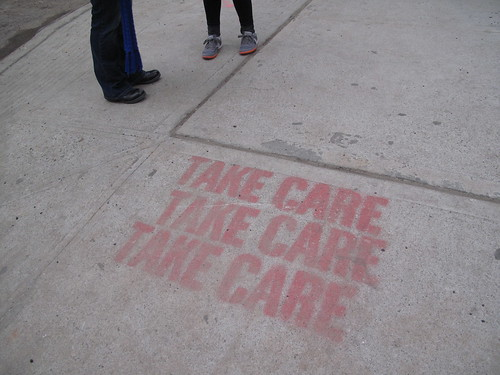 Nice sidewalk graffiti message
