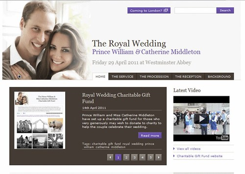 Official Royal Wedding Website (c) British Monarchy