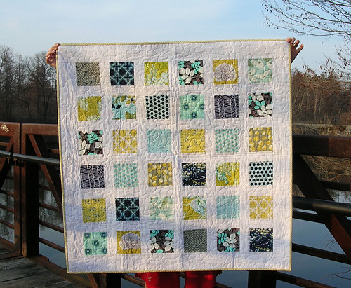 Modern Meadow baby quilt
