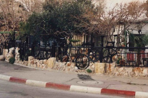Bicycle Fence, Northern Israel