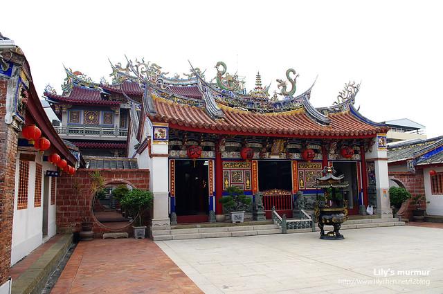 藍田書院雖然跟廟宇長得有點像,但仔細一看還是有所不同的。