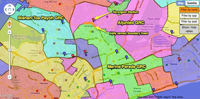 Bishan-Toa Payoh is next to Aljunied is next to Marine Parade