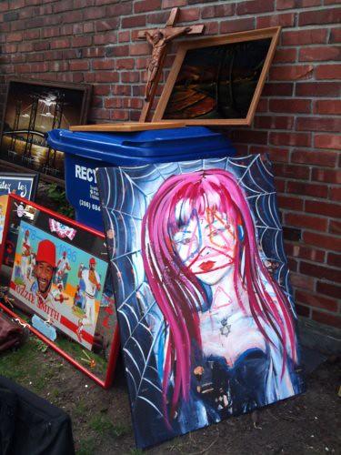 Art at yard sale