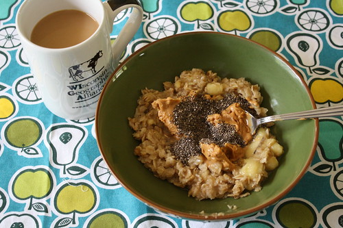 coffee, stovetop oats