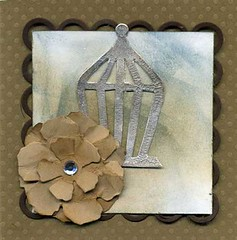 Greeting Card with Birdcage