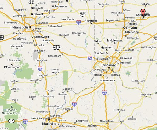 Springfield OH map