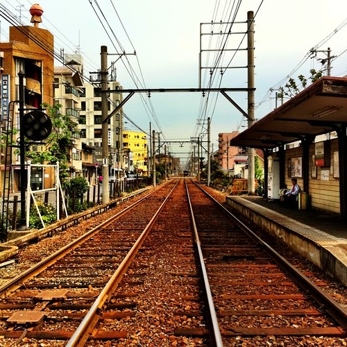 今日は、いつもの上町線じゃなくて恵比須から出てる阪堺線です。風情がイイでしょ! #Hankai-Line