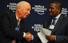 Klaus Schwab and Aliko Dangote - African Fello...