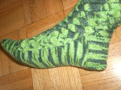 Crocodilian Sock 1 - Done