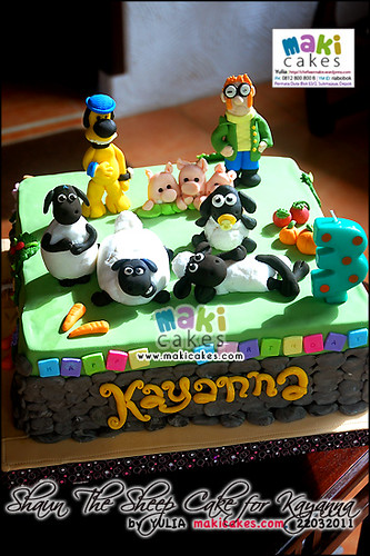 Shaun The Sheep Cake for Kayanna - Maki Cakes