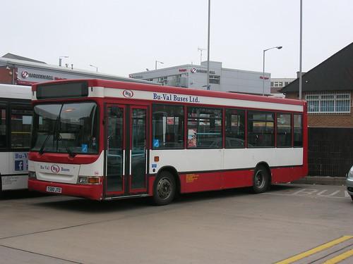 Dennis Dart, Plaxton SLF, T580 JTD, Bu-Val Buses, Rochdale bus station