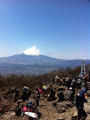 Running along Hakone volcano ridge