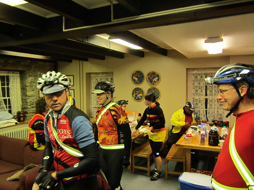 Riders getting ready