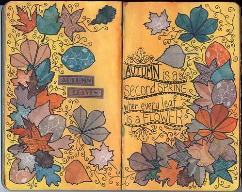 Autumn Leaves Art Journal Page by perfectly4med