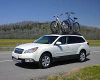Roof Bike Racks VERY Secure in High Cross Winds - Subaru ...