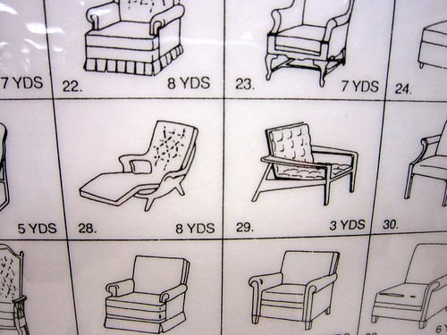 Mid Mod Upholstery Measurements