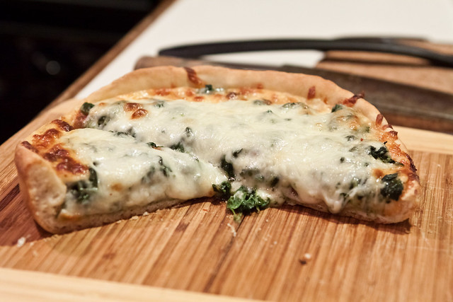 Spinach Pan Pizza