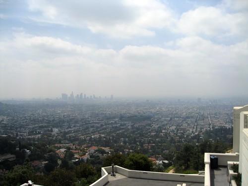 very hazy LA