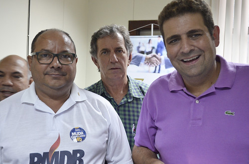 Gregório da Retífica, Lauro Fonseca e Dr. Marcos Viníicus - Visita ao Sindcomércio - Foto Emmanuel Franco (2)