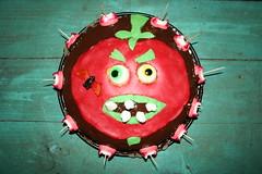 Killer tomato cake