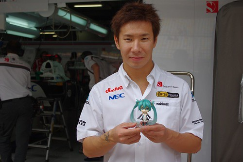 Kobayashi Kamui with Nendoroid Racing Miku: 2011 version