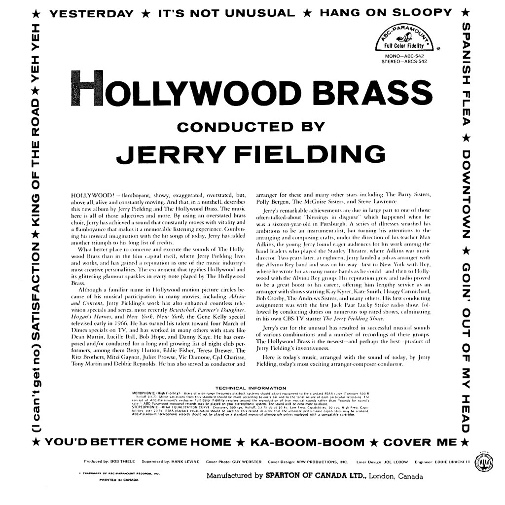 Hollywood Brass Conducted by Jerry Fielding