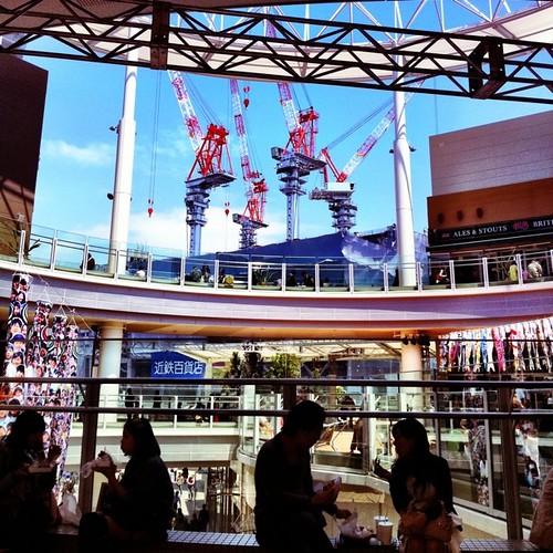 お昼時、Q'sモールから眺める景色。 #Osaka #Abeno #crane