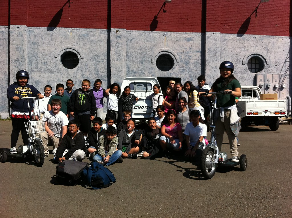 Visit to ZAP Jonway from Ms. Crapeau's 5th Grade Class from Luther Burbank School, Santa Rosa, California