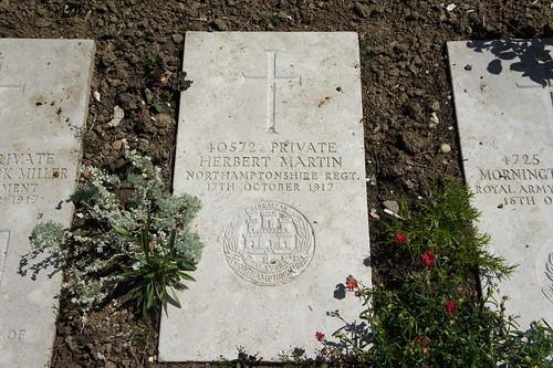 Herbert Martin's gravestone