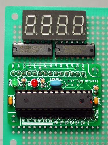 4 digit 7-segment LED with JeonLab mini