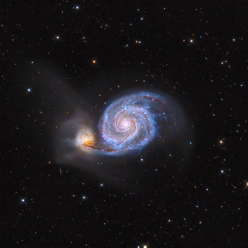 M51 - Whirlpool Galaxy by Pegaso0970