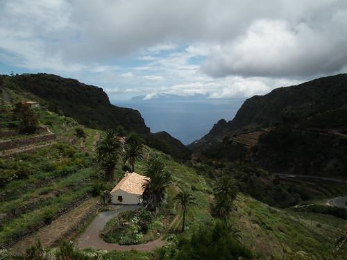 La Gomera - vue sur Tenerife et les falaises de Los Gigantes