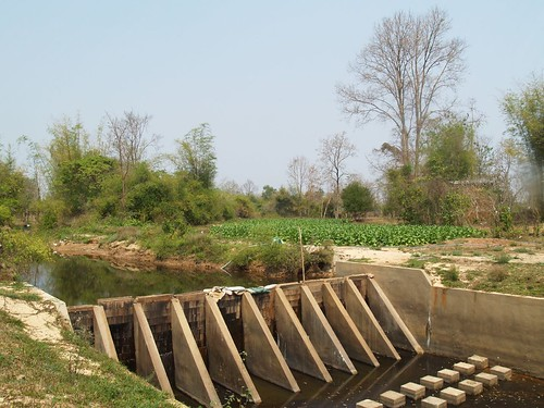 Village-built irrigation dam