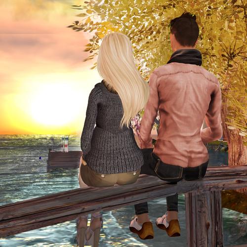 Autum Sunset Together