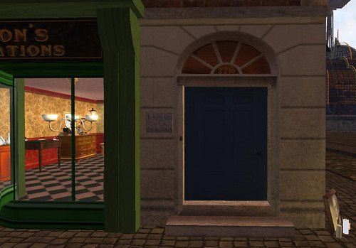 The door of Mr Holmes' consulting rooms in New Babbage