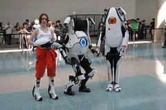 Chell, Atlas, Peabody - Portal 2 - Anime Expo
