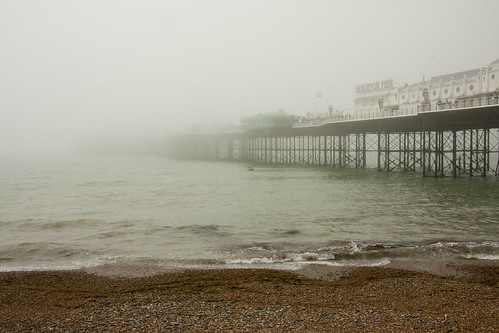 Brighton Pier dissappearing in to the fog