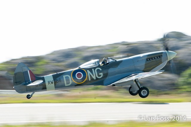 Spitfire in action