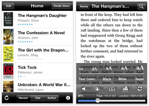 Kindle iPhone App