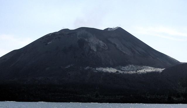 Southeast view of Anak Krakatau (as we headed toward Rakata for lunch)
