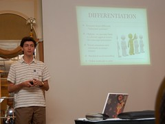 Yarmouth High School student Ben McNaboe presents at the 2011 Maine School Superintendents' Conference