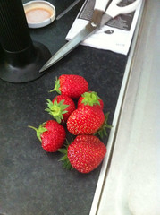 Strawberries from the garden.
