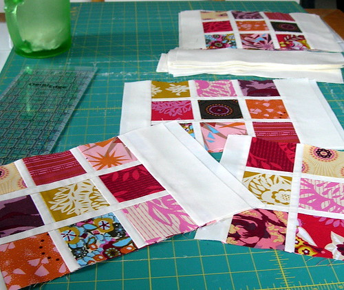 Making progress on my Innocent Crush quilt
